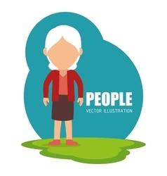 People cartoon graphic vector image