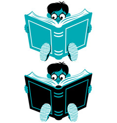 reading boy vector image vector image