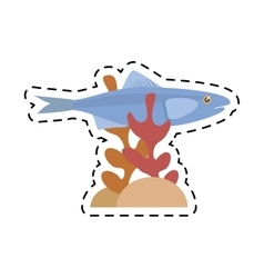 Sardine sea food sealife coral vector