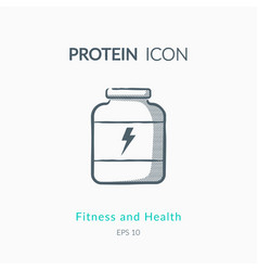 sport nutrition icon on white background vector image