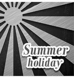 Summer chalkboard background vector image vector image