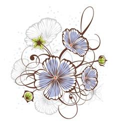 Vintage floral design vector