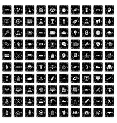 100 victory icons set grunge style vector