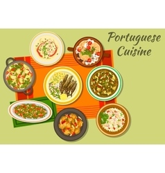 Portuguese cuisine icon for food design vector