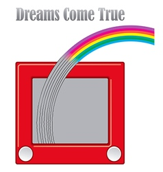 Dreams come true unique graphic vector image