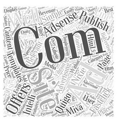 Adsense alternatives word cloud concept vector