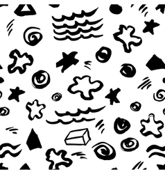 abstract seamless pattern with artistic stars vector image