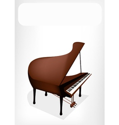 A retro grand piano with a white banner vector
