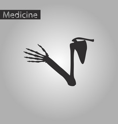 Black and white style icon of shoulder joint vector