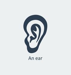 an ear icon vector image