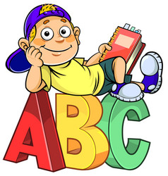 Boy with abc vector