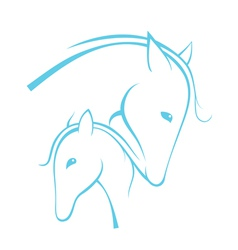 Contour of horses vector