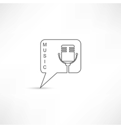 Mic into speech bubble vector