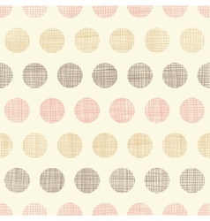 Vintage textile polka dots seamless pattern vector