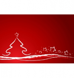 Christmas background with tree vector