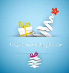 Simple blue christmas card vector