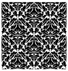 Retro seamless damask pattern vector