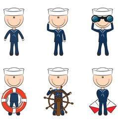 Cute seamen vector