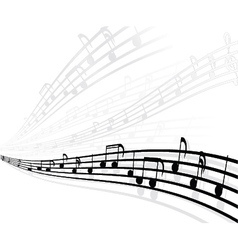 musical background with different notes vector image