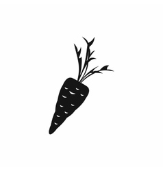 Carrot icon in simple style vector