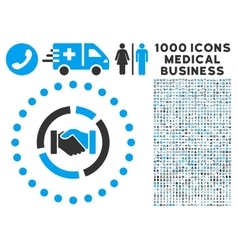 Acquisition diagram icon with 1000 medical vector