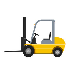 Cartoon yellow autoloader vector