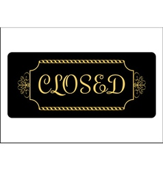 Closed sign effect of gold vector