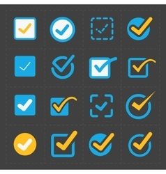 colorful confirm icons set vector image vector image
