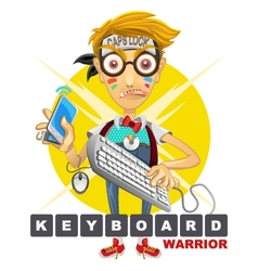 Cyberbully Nerd Geek Keyboard Warrior vector image