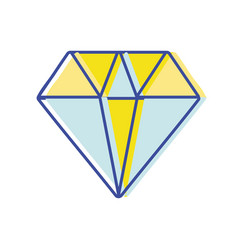 Diamond gem and crysral accesory vector