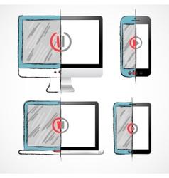 Digital Devices Set vector image