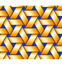 Golden hexagonal basketwork vector