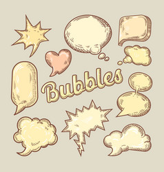 hand drawn comic speech bubbles vector image