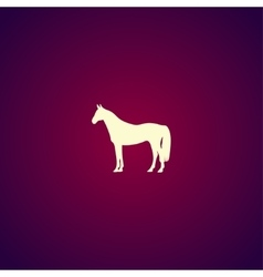 Horse Icon Modern design flat style vector image