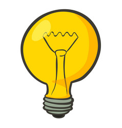 lamp icon cartoon style vector image vector image