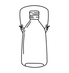 Line long mason jar with wire handle vector