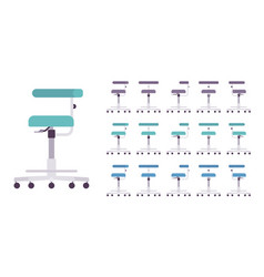 medical chair with wheels set vector image
