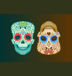 Mexican detailed skull vector