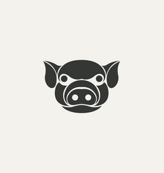 Pig logo template design vector