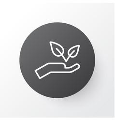 protect nature icon symbol premium quality vector image vector image