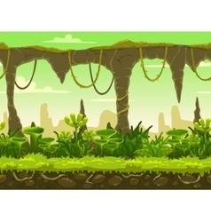 Seamless fantasy landscape vector