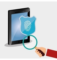 smartphone search password internet security vector image