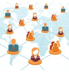 Social network and teamwork concept vector