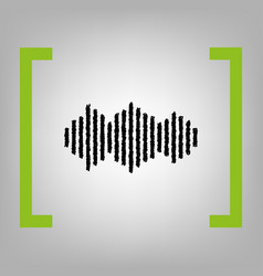 Sound waves icon black scribble icon in vector