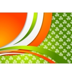 St Patrick Day background with Irish colors vector image vector image