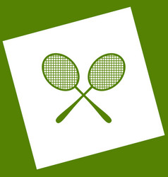 Tennis racquets sign white icon obtained vector
