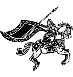 Valkyrie on Horse vector image