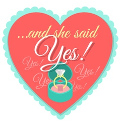 Wedding Label vector image vector image