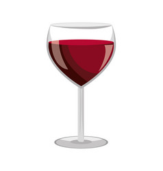 wine glass label design isolated vector image