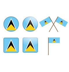 Saint lucia flag badge vector
